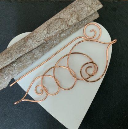 Copper seashell pin