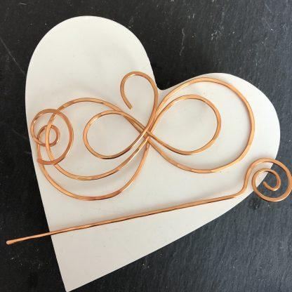 Infinity shawl pin