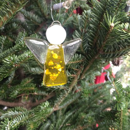 Yellow angel Christmas deco