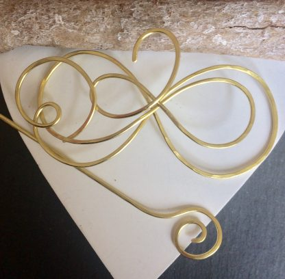 Gold infinity shawl pin