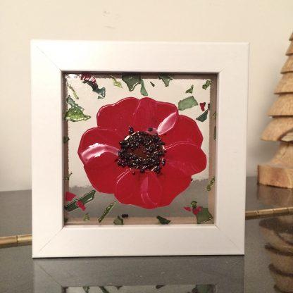 Poppy glass art box frame