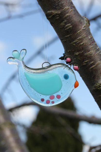 Glass bird turqouise