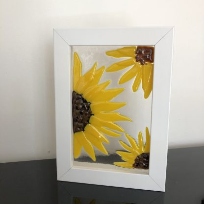 sunflower glass art picture
