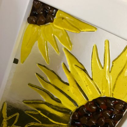 sunflower glass art