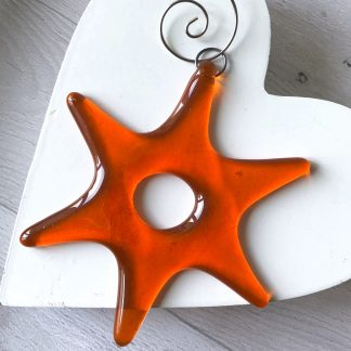 Fused glass star sun catcher