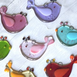 Glass Bird suncatchers