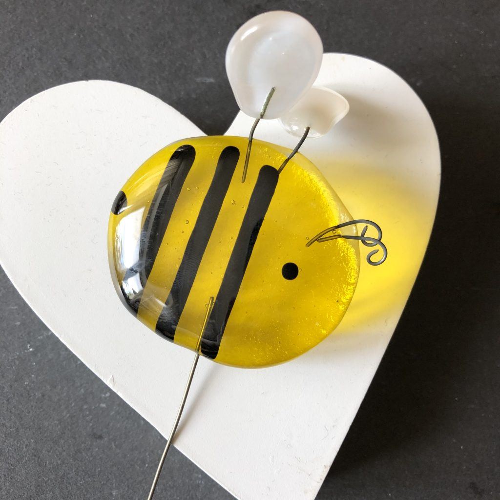 transparent large glass bee stake
